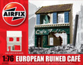European Ruined Cafe 1:76 Scale Resin Model Scenery Building Diorama (A75002)