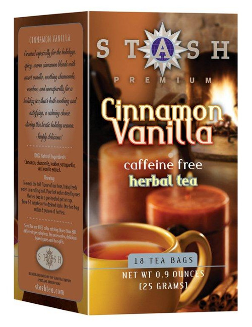 stash cinnamon vanilla herbal teabags