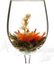 3 flower burst artisan tea wineglass
