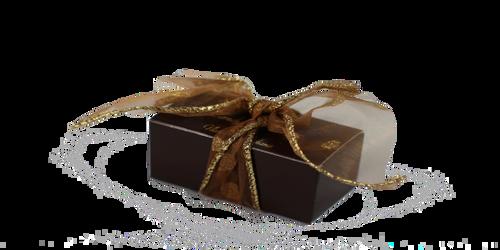 2 piece mini truffles boxed with ribbon