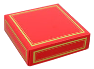 red 4 piece dessert truffle box and bow