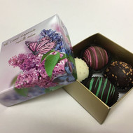 4 Piece Dessert Truffles - Butterfly box with Ribbon