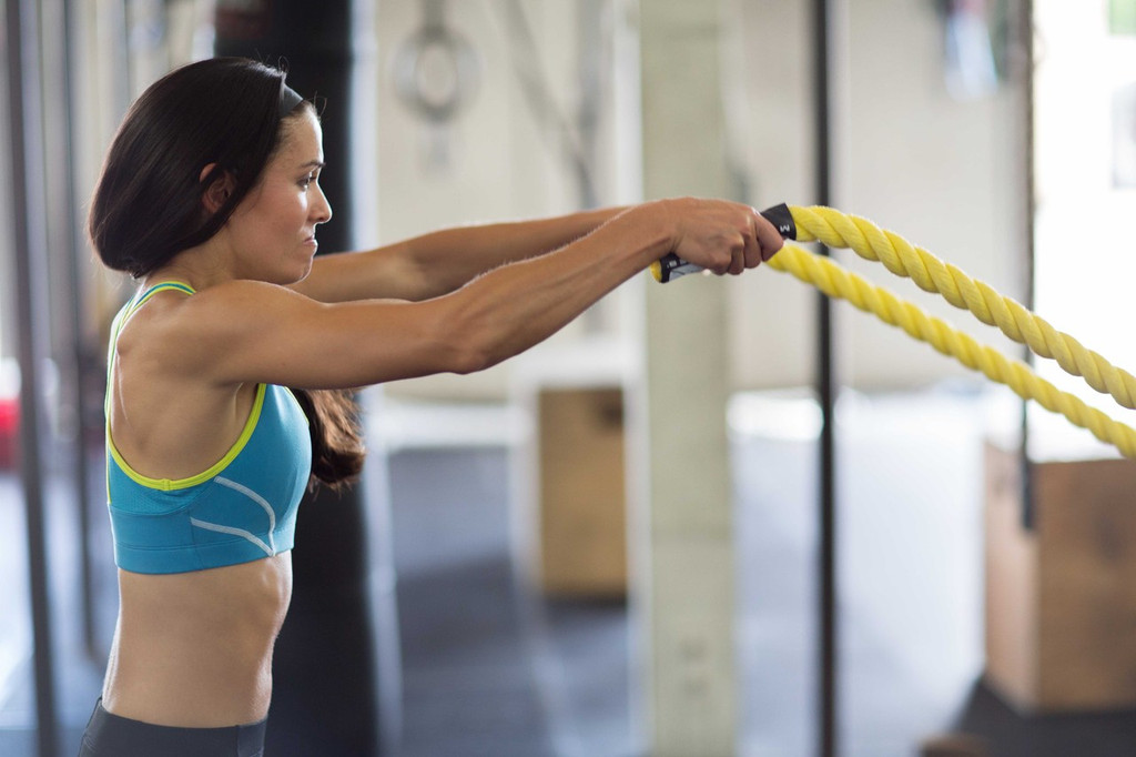 """Lightning 1.5"""" Battle Rope By Muscle Ropes"""