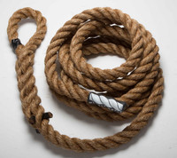 "Climbing 1.5"" Manila Battle Rope By Muscle Ropes"