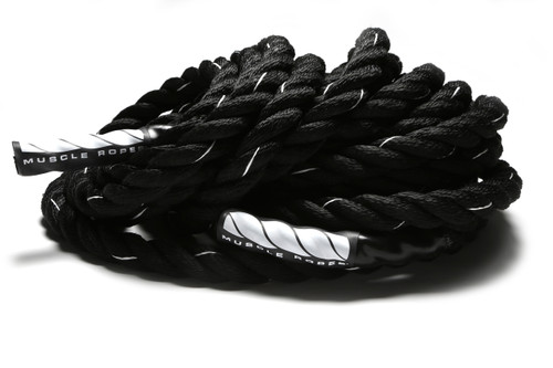 "Black Cyclone 2"" Battle Rope By Muscle Ropes"