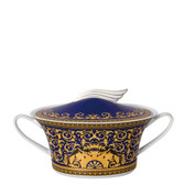 VERSACE MEDUSA BLUE VEGETABLE BOWL COVERED