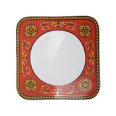 VERSACE MEDUSA RED SQUARE SALAD PLATE