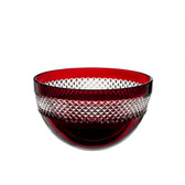 WATERFORD JOHN ROCHA RED CUT BOWL SMALL