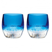 WATERFORD TUMBLER ARGON BLUE, PAIR