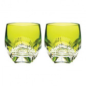 WATERFORD TUMBLER NEON LIME GREEN, PAIR