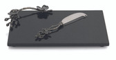 MICHAEL ARAM BLACK ORCHID CHEESE BOARD W/ KNIFE SMALL