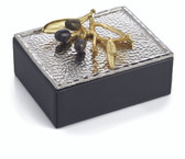 MICHAEL ARAM OLIVE BRANCH GOLD MINI JEWELRY BOX