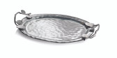 MICHAEL ARAM BOTANICAL LEAF GLASS PLATTER SMALL