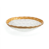 MICHAEL WAINWRIGHT TRURO GOLD MEDIUM SHALLOW BOWL