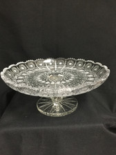 BOHEMIA CRYSTAL FOOTED PLATTER-2