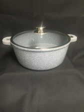 IMPERIAL CAST ALUMINUM POT 10QT MARBLE COAT