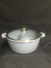 IMPERIAL CAST ALUMINUM POT 12QT MARBLE COAT