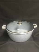 IMPERIAL CAST ALUMINUM POT 16QT MARBLE COAT