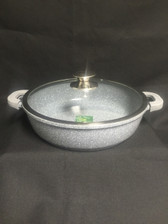 "IMPERIAL CAST ALUMINUM LOW POT 11"" MARBLE COAT"