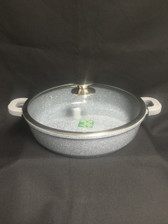 "IMPERIAL CAST ALUMINUM LOW POT 13"" MARBLE COAT"