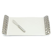 MICHAEL WAINWRIGHT TRURO PLATINUM CHEESE TRAY WITH KNIFE