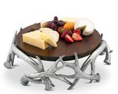 ARTHUR COURT ANTLER CHEESE PEDESTAL