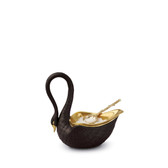 L'OBJET SWAN SALT CELLAR BLACK