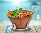 ARTHUR COURT CRAB WOOD TALL SALAD BOWL