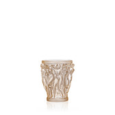 LALIQUE BACCHANTES VASE SMALL GOLD