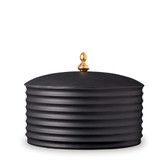 L'OBJET HAN BOWL WITH LID BLACK