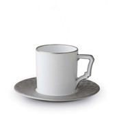 L'OBJET BYZANTEUM ESPRESSO CUP AND SAUCER