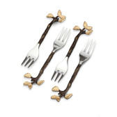 L'OBJET MULLBRAE COCKTAIL FORKS SET OF 4