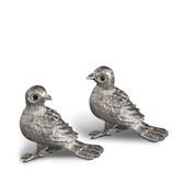 L'OBJET BIRD SPICE JEWELS SET OF 2 PLATINUM