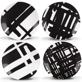 DKNY URBAN GRAFFITI TIDBIT PLATE SET OF 4
