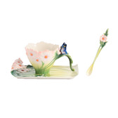FRANZ COSMOS AND BUTTERFLY CUP/SAUCER SET