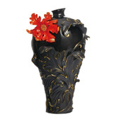FRANZ BAROQUE RED LILY FLOWER LARGE VASE