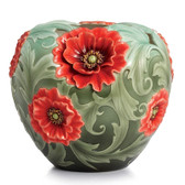 FRANZ POPPY FLOWER LARGE VASE