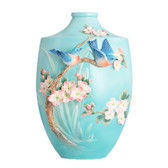 FRANZ BLUEBIRD ON APPLE TREE LARGE VASE
