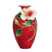 FRANZ ISLAND BEAUTY HIBISCUS FLOWER SMALL VASE