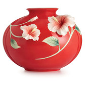 FRANZ ISLAND BEAUTY HIBISCUS FLOWER MID SIZE VASE