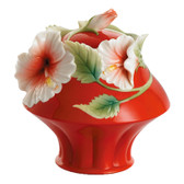 FRANZ ISLAND BEAUTY HIBISCUS FLOWER SUGAR JAR