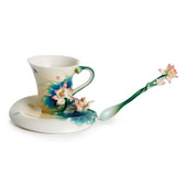 FRANZ PEACEFUL LOTUS CUP/SAUCER