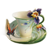 FRANZ QUESTION MARK BUTTERFLY CUP/SAUCER