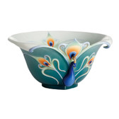 FRANZ PEACOCK SPLENDOR DECORATIVE BOWL
