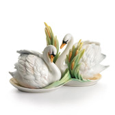 FRANZ SWAN LAKE SALT & PEPPER SHAKERS