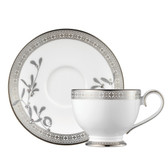 PROUNA PLATINUM LEAVES TEA CUP AND SAUCER