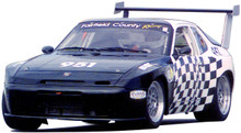 "944 1/4"" thick polycarbonate windshield installed in customer race car"