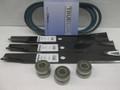 """John Deere Deck Blades Belt & Bearings 120, 140, 300 312 314 316 330 332 46"""" 48"""