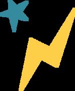 Lightning Bolt and Star SVG Cut File