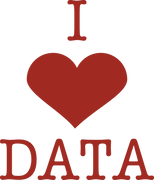 I Heart Data SVG Cut File